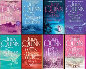 Bridgerton novels by Julia Quinn