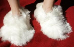 Fluffy alpacs slippers